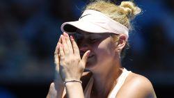 Vijftienjarige Kostyuk blijft maar verbazen, Wozniacki overleeft twee matchballen