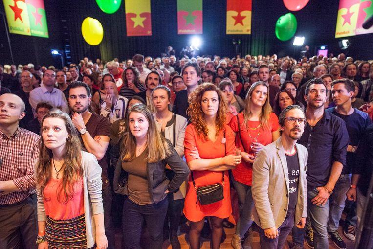 De SP-bijeenkomst in Den Haag. Beeld Harry Cock / de Volkskrant