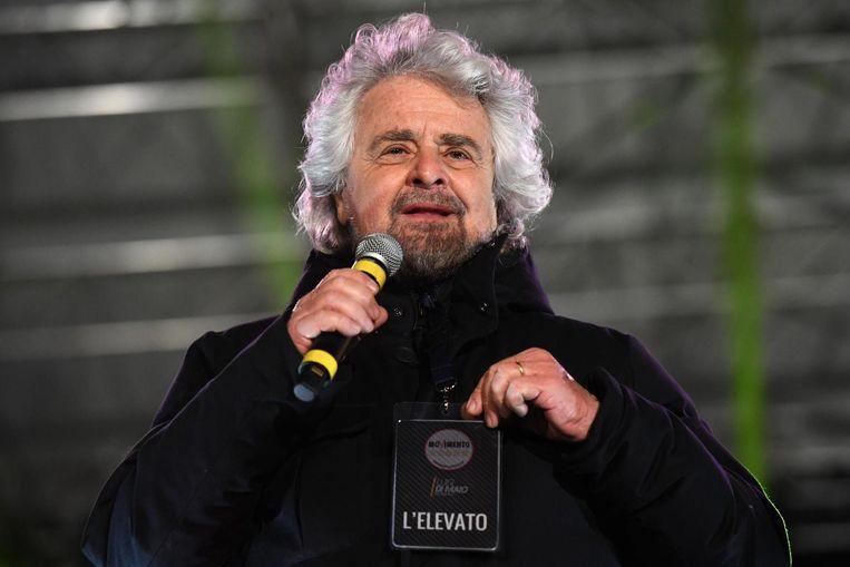 Leider van de Vijfsterrenbeweging Beppe Grillo Beeld anp
