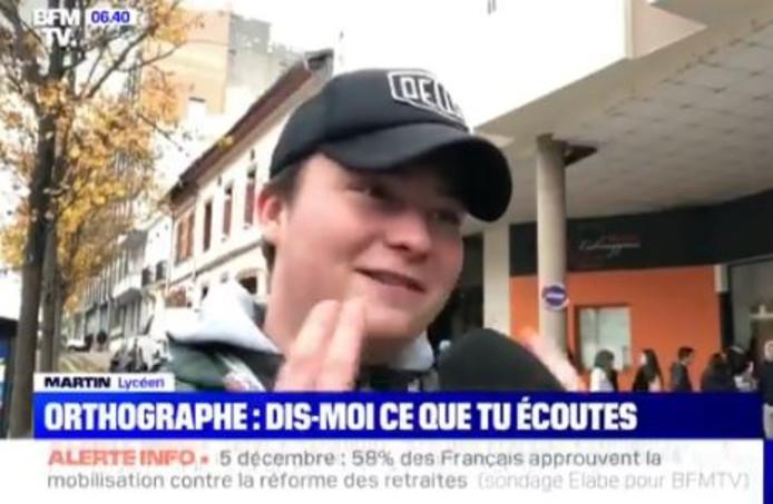 Le reportage de BFMTV prend l'exemple de Martin, un lycéen fan du rappeur Jul