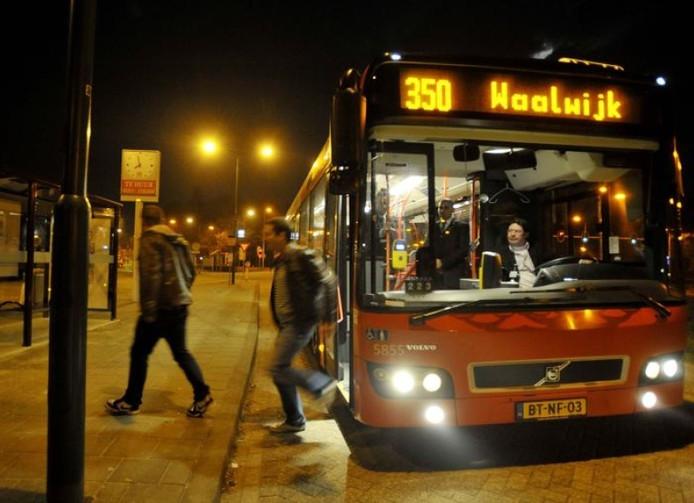De Nachtbus naar Waalwijk.