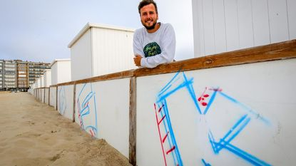 Graffitispuiters teisteren strand