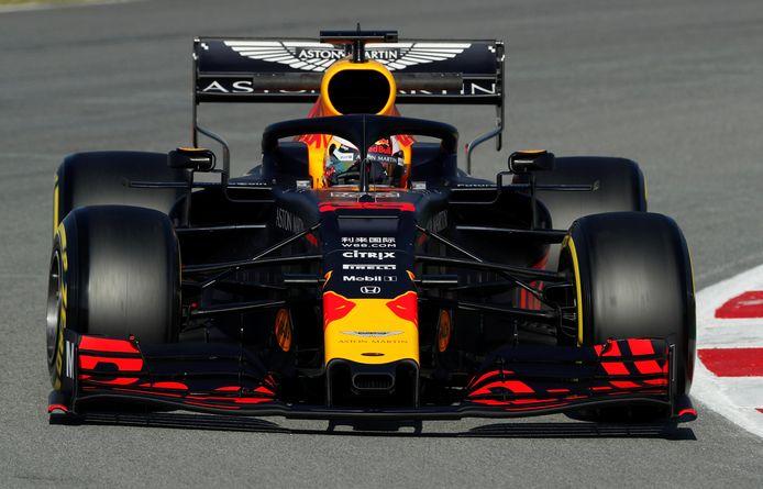 Max Verstappen tijdens de testdagen in Barcelona.