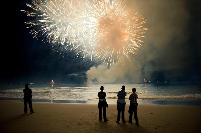 Het Vuurwerkfestival in Scheveningen.