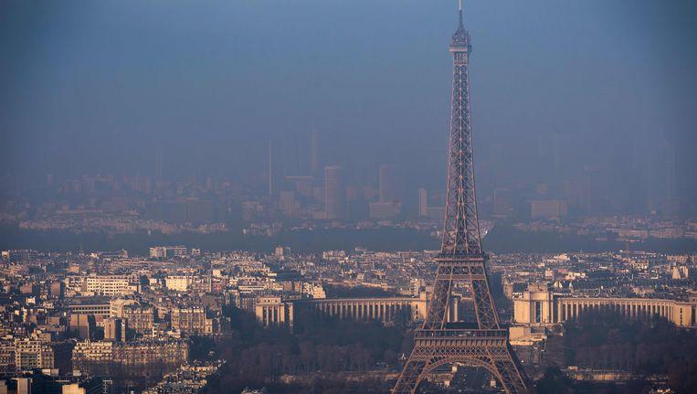 Smog boven Parijs, 29 december 2016.