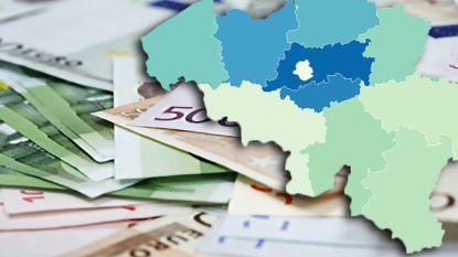 Inwoners uit Vlaams- en Waals-Brabant hebben de hoogste inkomens