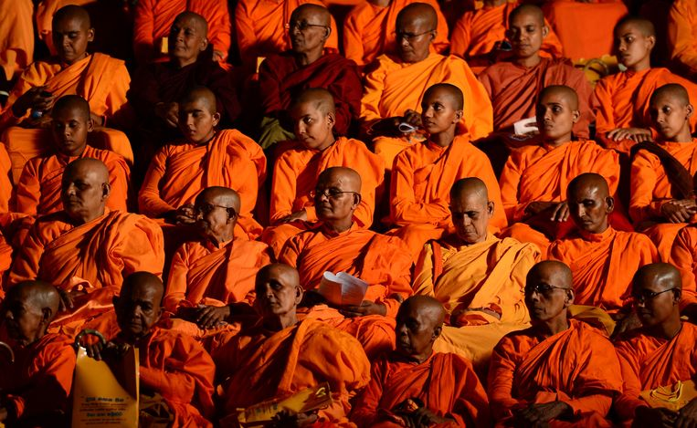 De radicale monnik Galagoda Aththe Gnanasara Thero. Beeld ANP
