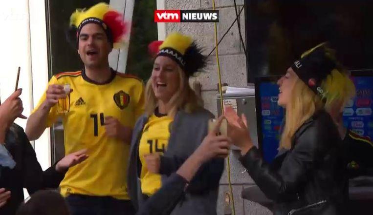 Kat Kerkhofs bouwde ook een feestje na de zege tegen Panama.