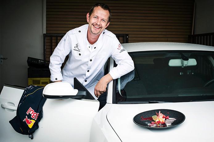 Rutger van Weel van restaurant Katseveer met 'Max'33'.