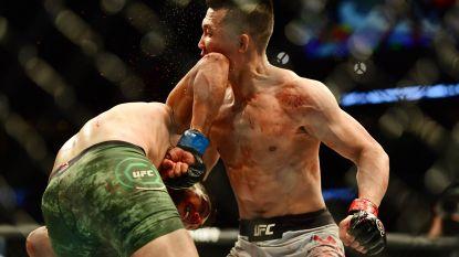 """No-look elleboog goed voor knock-out in slotseconde zindert na in UFC: """"Deze is voor iedereen die tegen een ziekte vecht"""""""