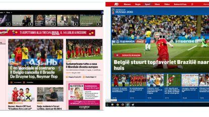 """Buitenlandse media vol lof voor Duivels en lacherig over Neymar: """"De wereldtitel lonkt, het is nu of nooit voor de Belgen"""" - """"Kevin de Bumm – und Neymar lag wieder nur rum..."""""""