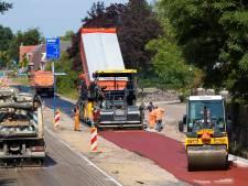 Het is net een tapijtje: aanleg snelfietsroute Tilburg-Waalwijk in volle gang