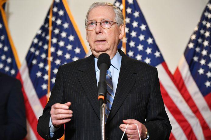 De Republikeinse leider in de Senaat Mitch McConnell.