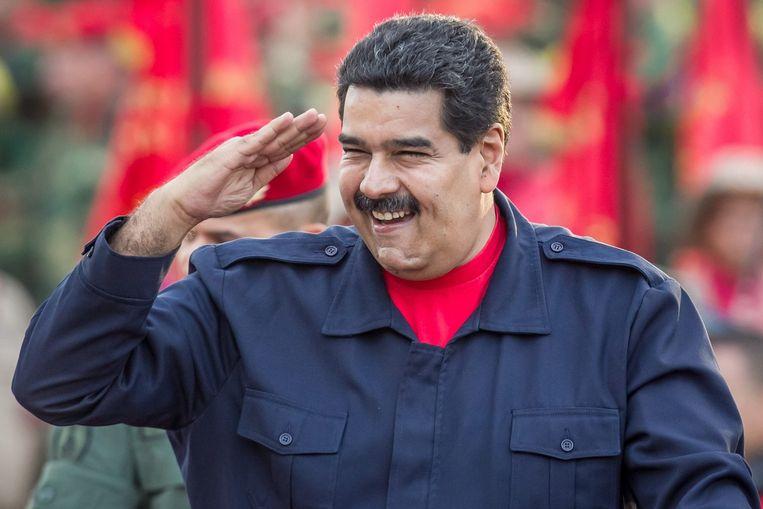 Nicolas Maduro, president van Venezuela. Beeld null