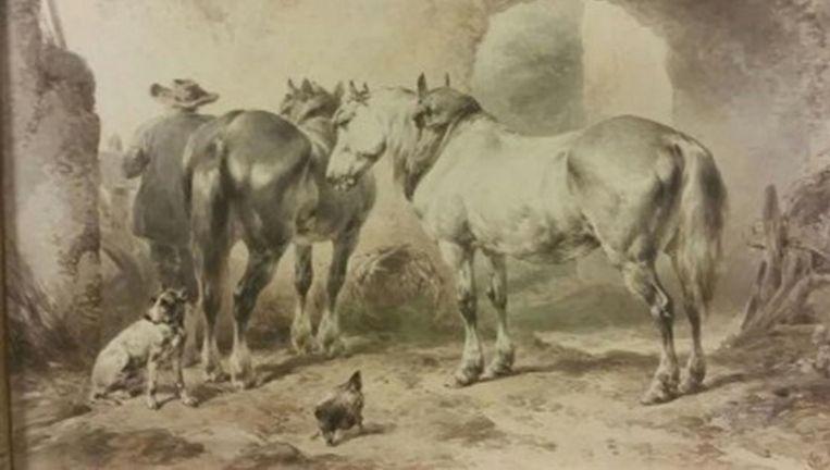Een van de gestolen schilderijen (bron: Politie.nl). Beeld .