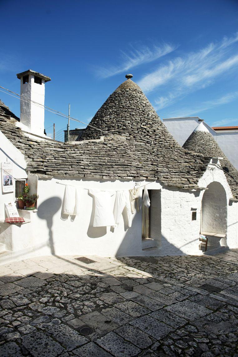 Trulli-huisjes in Alberobello. Beeld Sanne De Wilde