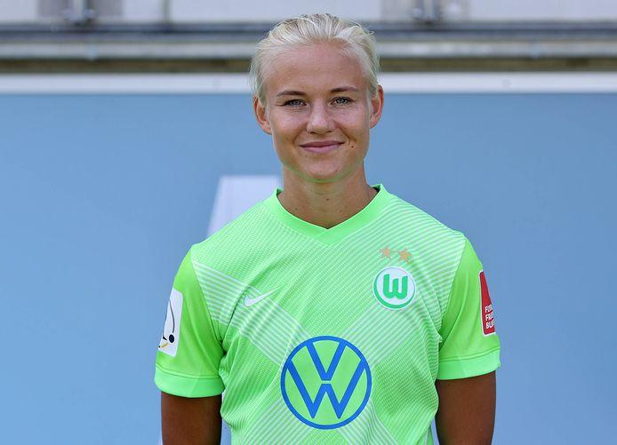 Pernille Harder, de Deense sterspeelster van VfL Wolfsburg.