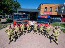 Brandweer Vroomshoop bedankt broodnodige invaller: 'Bert van de kazerne in Den Ham is er zo één die helpt'