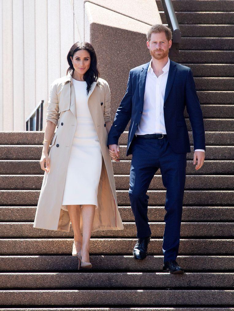 Meghan en prins William vertoeven momenteel in Australië, waar ze vandaag een bezoekje brachten aan het Sydney Opera House.