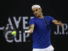 Laver Cup: Zelfs Roger Federer mist wel eens een bal