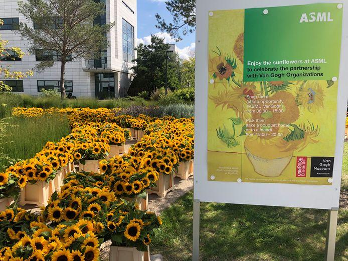 ASML tijdens de presentatie van het project rond Vincent van Gogh begin juli.