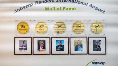 Antwerpse luchthaven onthult zijn 'Wall of Fame'