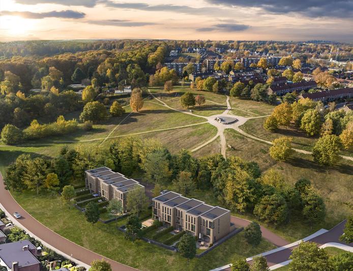 Een impressie van de elf stadsvilla's in project 'Hoogte Tachtig' in Arnhem.