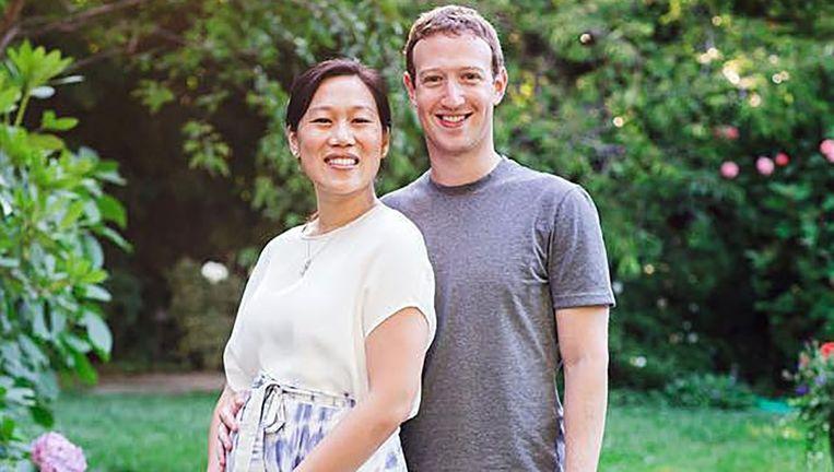 Facebookbaas Mark Zuckerberg met zijn vrouw Priscilla Chan