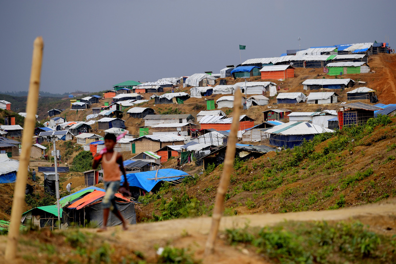 Het kamp Balukhali in Cox's Bazar in Bangladesh.
