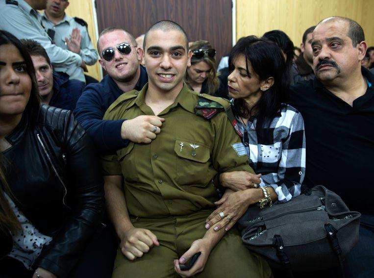 De Israëlische militair Elor Azaria in de rechtbank.