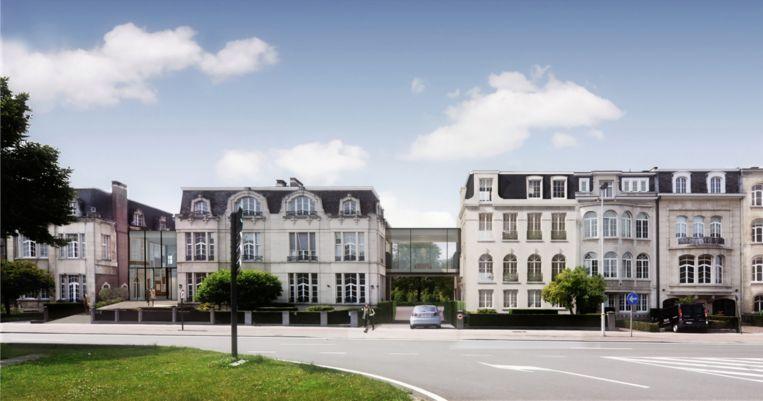 De voorzijde van Bank Delen Antwerpen