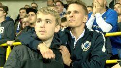 Club Brugge fans in zak en as na late nederlaag tegen Dortmund