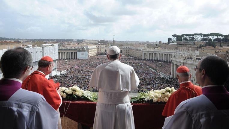 Paus Franciscus tijdens zijn Urbi et Orbi in 2013. Beeld afp