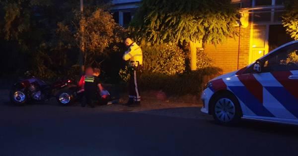 Quadrijder loopt hoofdletsel op bij ongeval in Groesbeek.