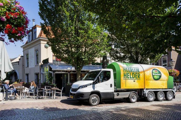 De nieuwe compacte tankbierwagen van Heineken.