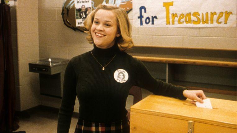 Reese Witherspoon in Election van Alexander Payne. Beeld