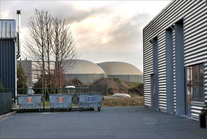 De silo's van Cleanergy op bedrijventerrein Molenveld in Wanroij.