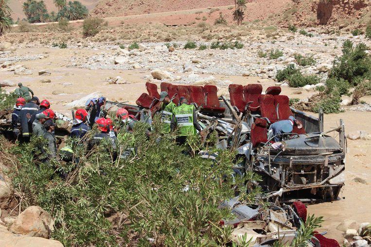 In september gebeurde in Marokko ook al een zwaar busongeval met zeventien doden en dertig gewonden.