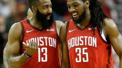 """VIDEO. James Harden leidt Houston naar krappe winst tegen Toronto: """"Statistieken interesseren me niet"""""""