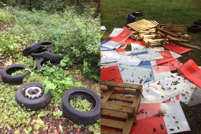 Bij Kasteel Huis Bergh werd afgelopen weekend weer eens afval gedumpt.