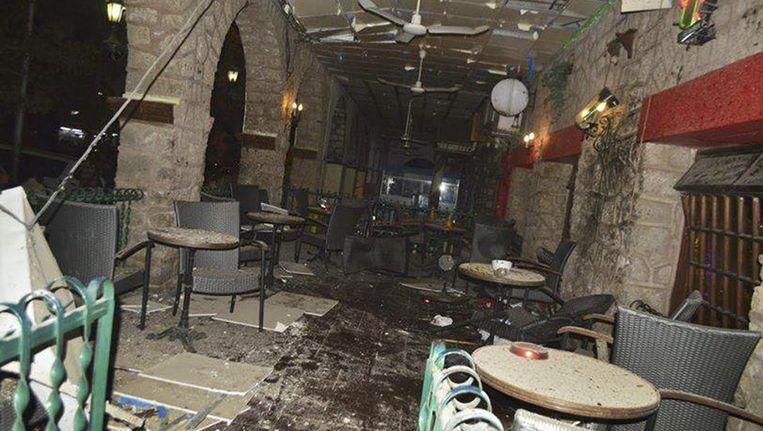 Het restaurant La Chaumiere na de aanslag Beeld ap