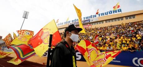 Volle tribunes en geen social distancing in Vietnam