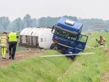 Nachtelijke berging gecrashte truck op A6 bij Bant gelukt: weg is weer vrijgegeven