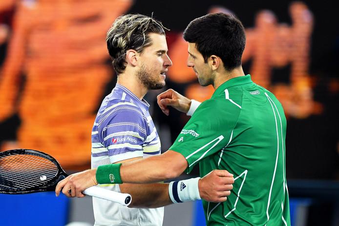 Novak Djokovic a dû batailler pour venir à bout d'un Dominic Thiem conquérant.