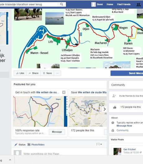 Facebookpagina: 'We willen de oude MaasdijkMarathon terug'