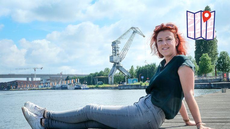 De kanaalzone in Vilvoorde is Margo's favoriete plekje.