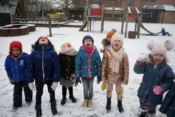 De derde kleuterklas van school De Boomhut in Kampenhout.