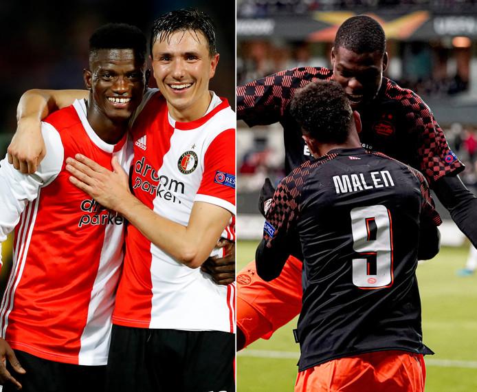 Feyenoord en PSV wonnen deze week hun Europa League-duels.