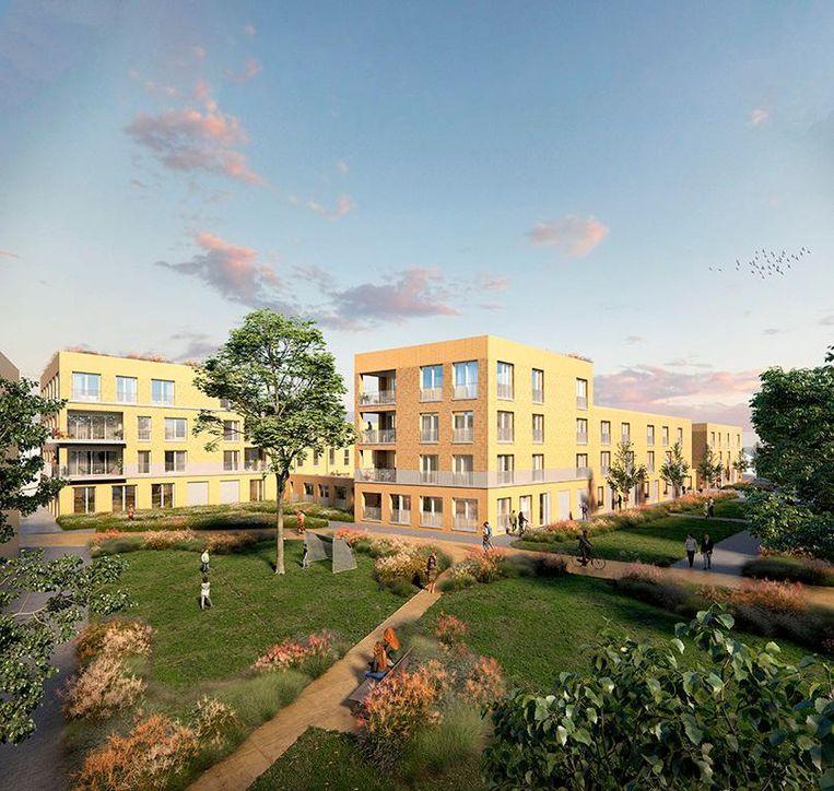 Zo zal de nieuwe, groene woonwijk eruitzien.
