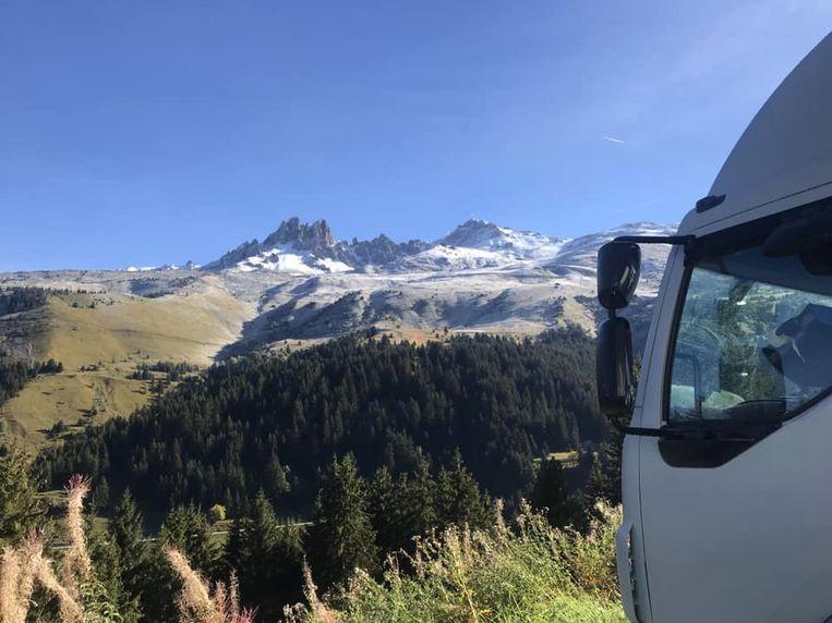 Het uitzicht in de Franse Alpen.